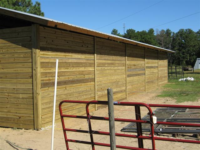 Pole barn wall section drawing for Shed construction cost estimator