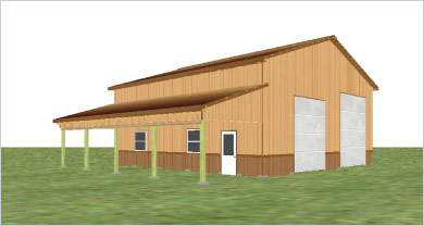 Pole barn kits 30x40 joy studio design gallery best design for Barn packages for sale