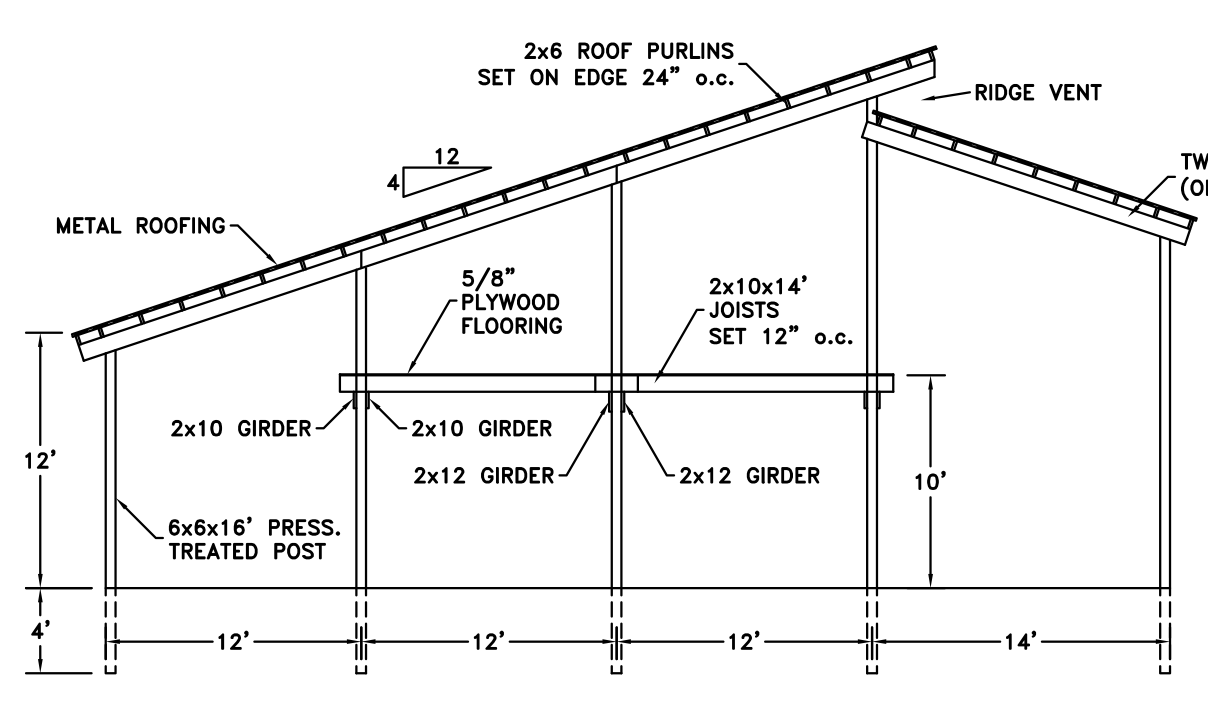 Free pole barn plans 40x60 joy studio design gallery for Barn blueprints free plans