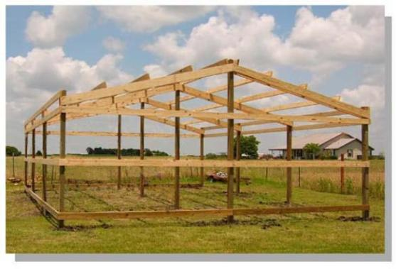 How to build pole barn construction quick woodworking for How to build a pole barn plans for free
